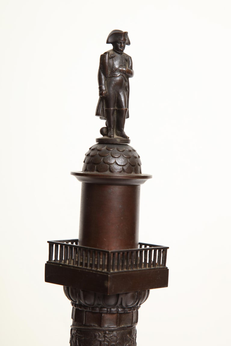 19th Century French, Bronze Place Vendome Column For Sale 4