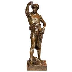 "19th Century French Bronze Sculpture ""Gloire Et Fortune"" Signed E. Picault"