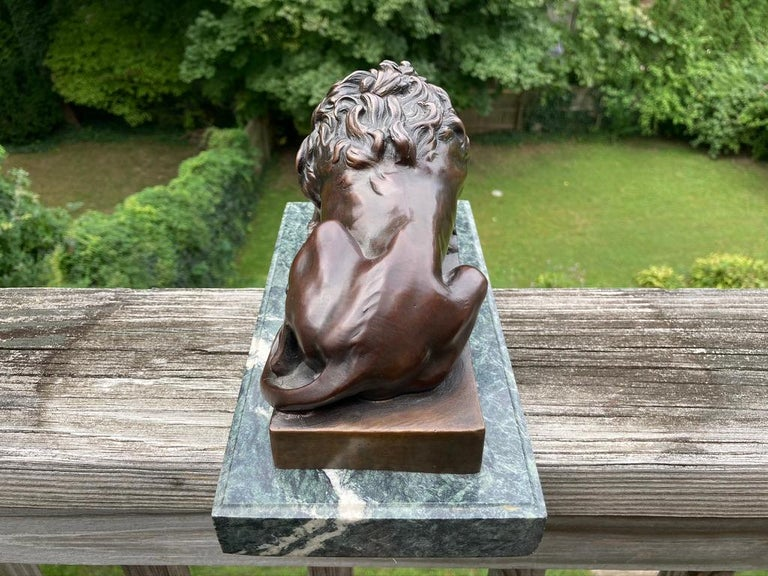 19th Century French Bronze Sculpture of Sleeping Lion by Jules Moigniez For Sale 6
