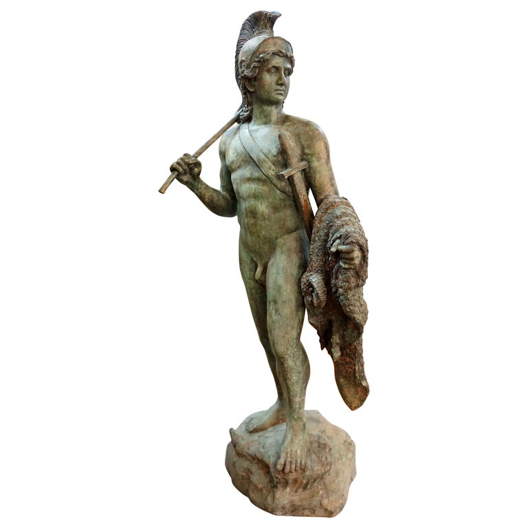 19th Century French Bronze Statue For Sale