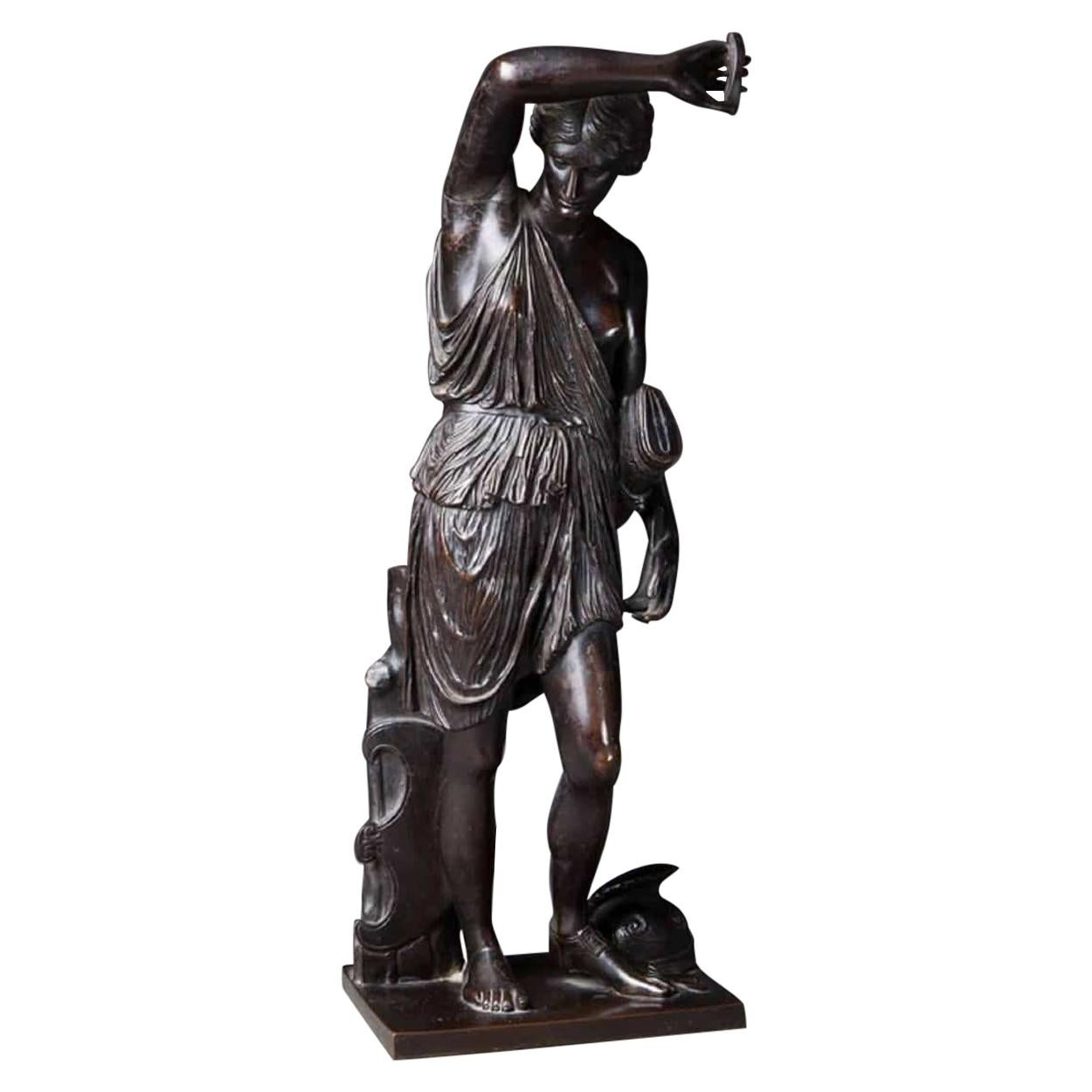 19th Century French Bronze Statue of the Goddess Diana by Barbedienne
