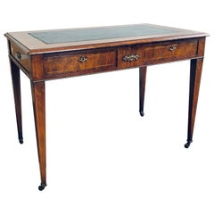 19th Century French Burr Walnut Gilt Metal Mounted Centre Writing Table