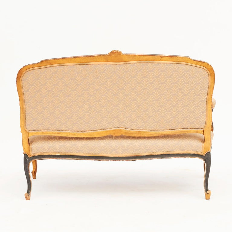 19th Century French Canapé Sofa in Rococo / Louis XV Style In Good Condition For Sale In Nordhavn, DK