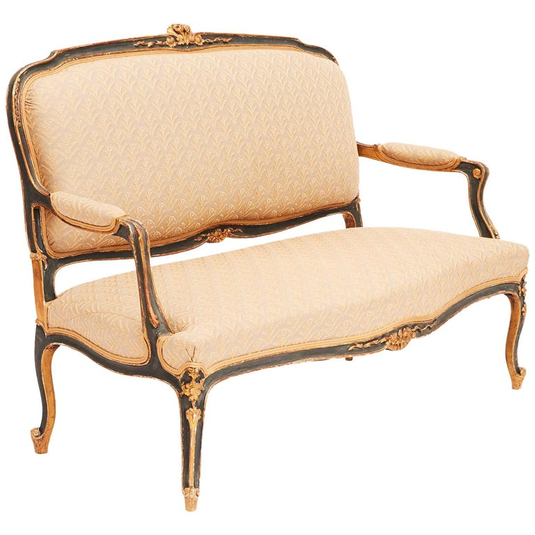 19th Century French Canapé Sofa in Rococo / Louis XV Style For Sale