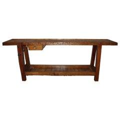 19th Century, French Carpenter's Workbench