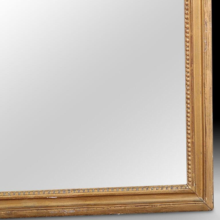 Louis XVI 19th Century French Carved and Gilt Framed Mirror For Sale