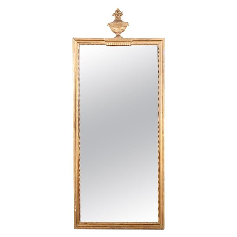 19th Century French Carved and Gilt Framed Mirror For Sale