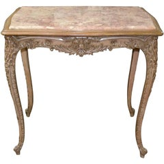19th Century French Carved and Lacquered Salon Table