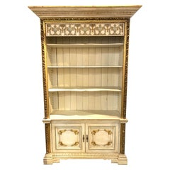 19th Century French Carved and Painted Neo-Classical Bookcase