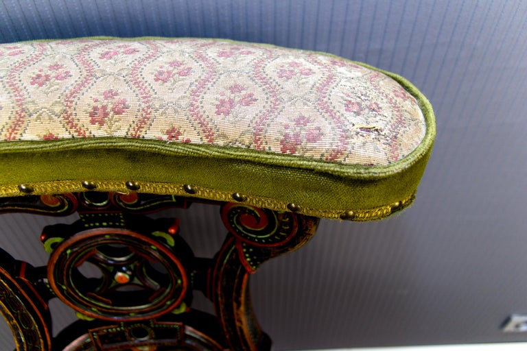 19th Century French Carved and Painted Smoking Chair For Sale 5