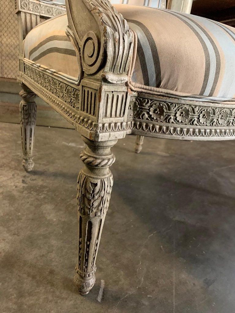 19th Century French Carved Armchair For Sale 9