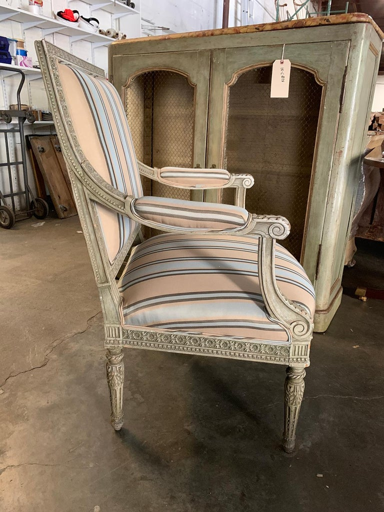 19th Century French Carved Armchair In Good Condition For Sale In Atlanta, GA