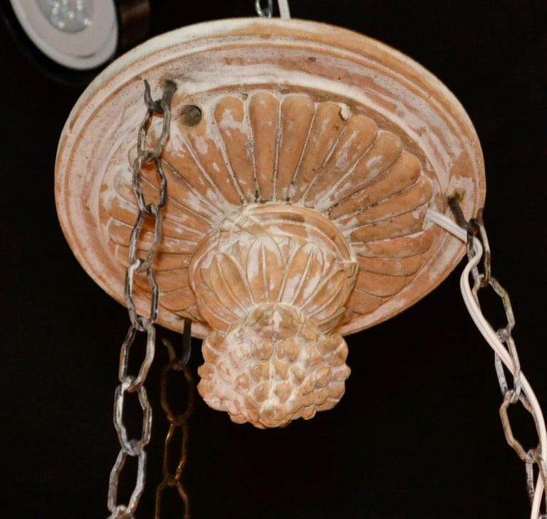 19th Century French Carved Chandelier For Sale 3