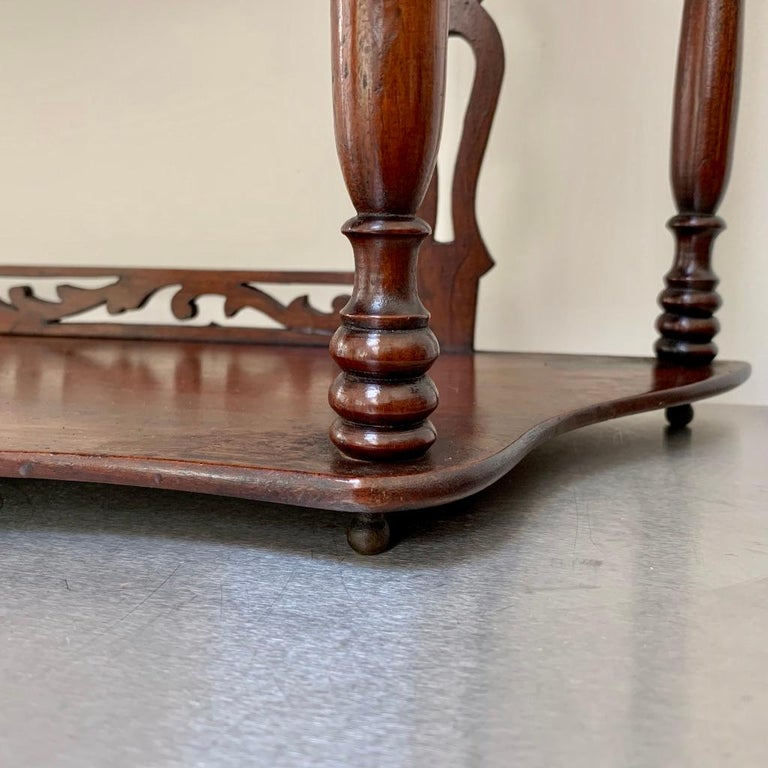 19th Century French Carved Freestanding or Hanging Shelves in Mahogany For Sale 7
