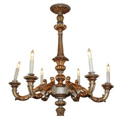 19th Century French Carved Giltwood Chandelier