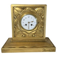 19th Century French Carved Giltwood Clock