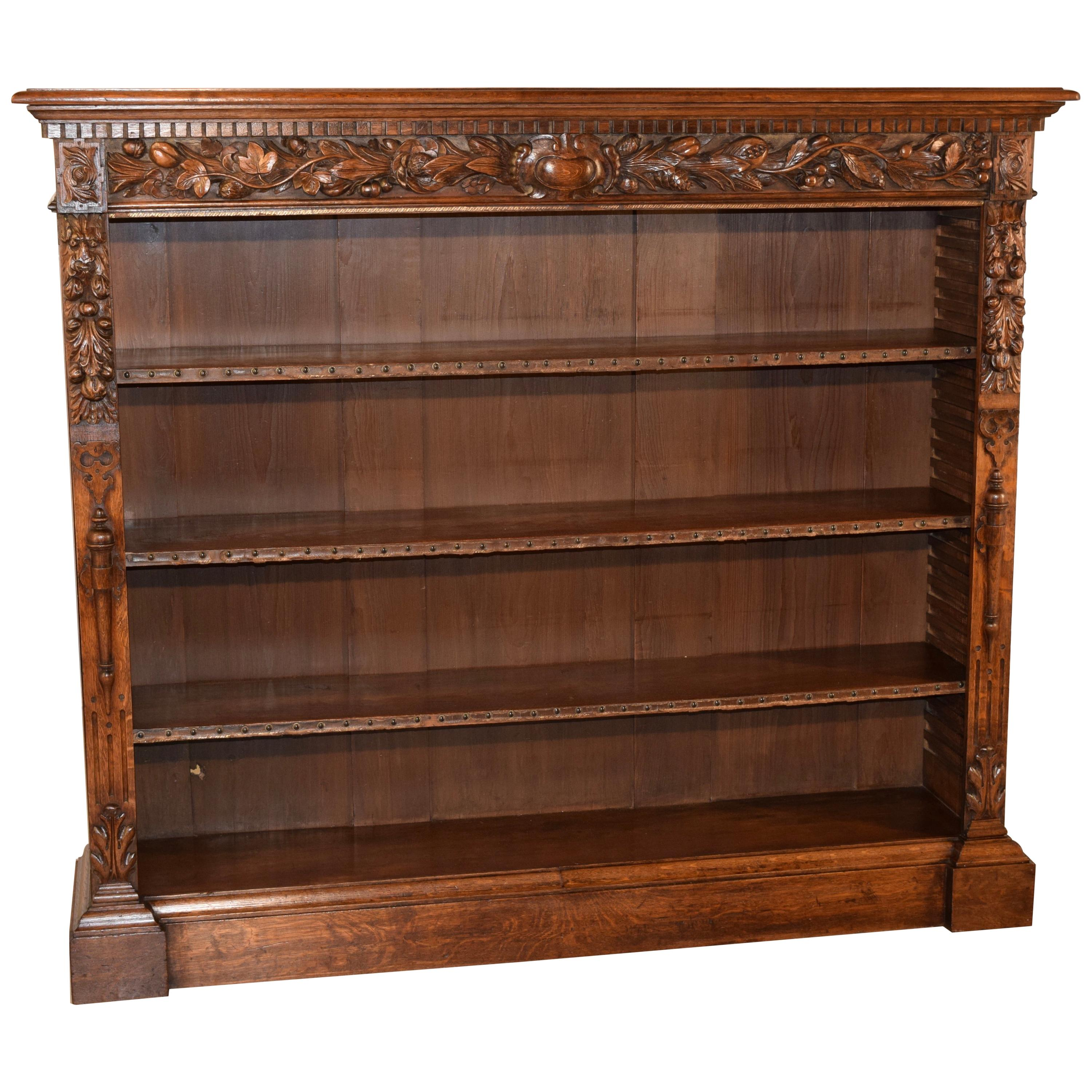 19th Century French Carved Large Bookcase