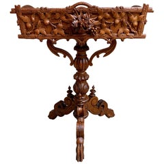 19th Century French Carved Oak Black Forest Plant Stand Jardinière Flower Box