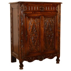 19th Century French Carved Oak Buffet