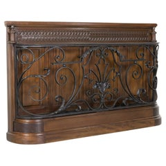 19th Century French Carved Walnut and Iron Porte-Parapluie or Umbrella Stand