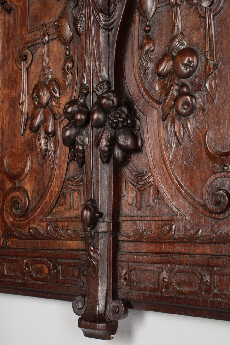19th Century French Carved Walnut Decorative Panel For Sale 1