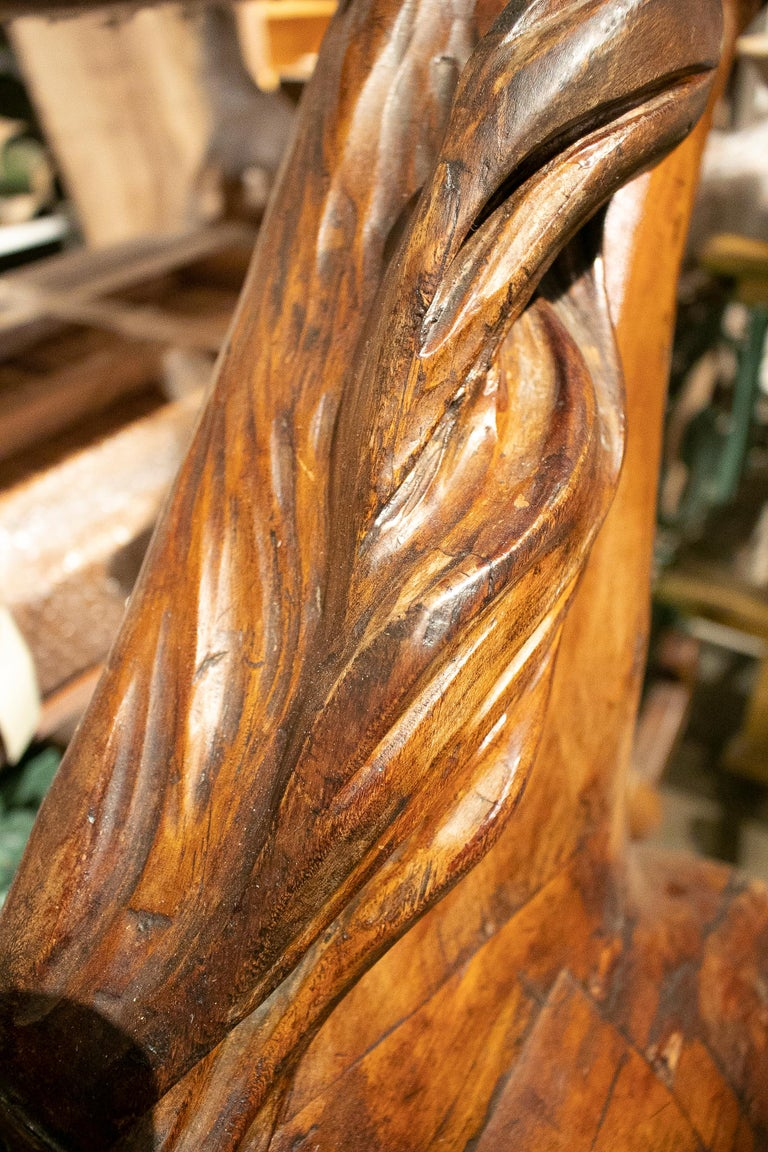 19th Century French Carved Wood Carousel Horse For Sale 5