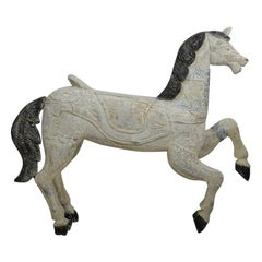 19th Century French Carved Wood Carousel Horse