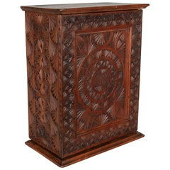 19th Century French Carved Wooden Box
