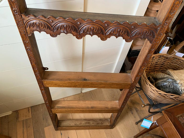19th Century French Carved Wooden Plate Rack For Sale 9