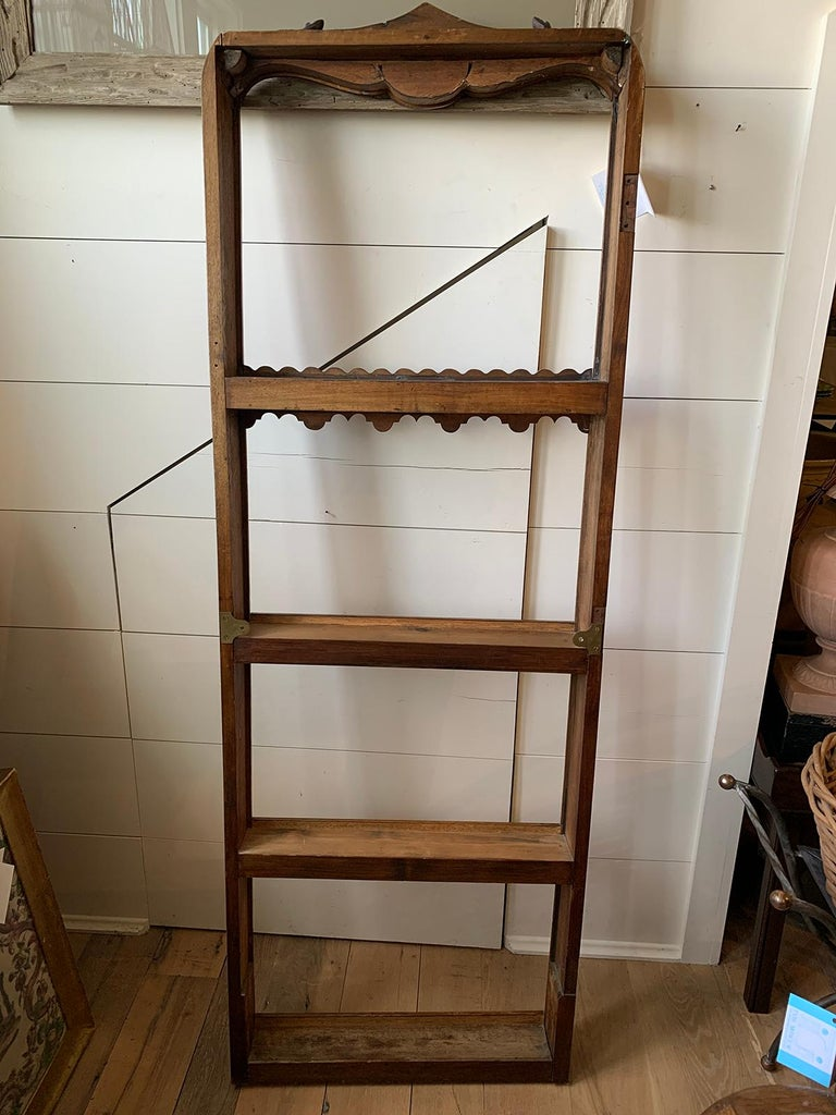19th Century French Carved Wooden Plate Rack For Sale 12