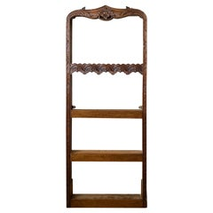 19th Century French Carved Wooden Plate Rack