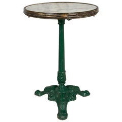 19th Century French Cast Iron Bistro Table