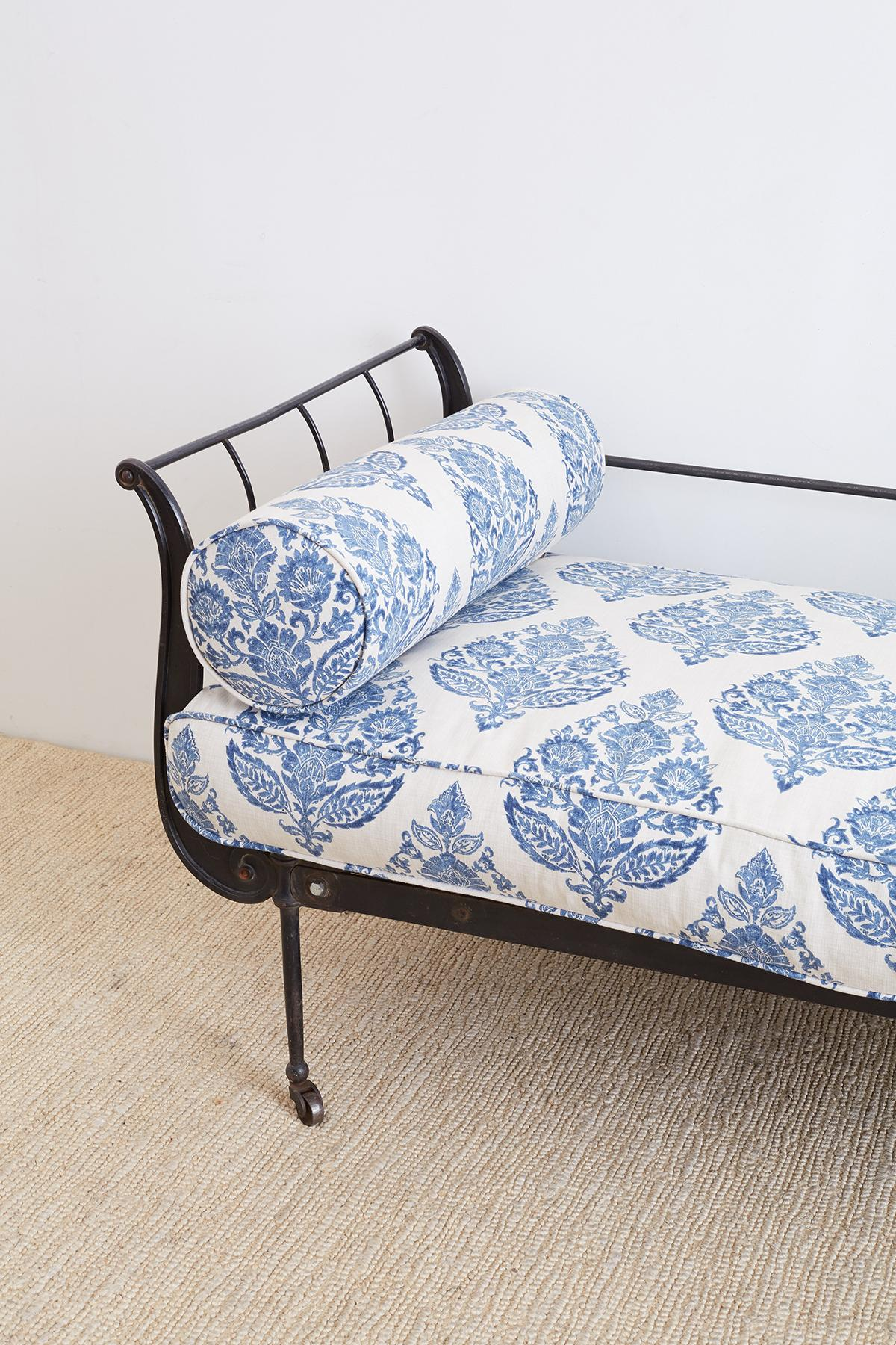 - 19th Century, French Cast Iron Daybed With Linen At 1stdibs