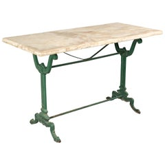 19th Century French Cast Iron Garden Bistro Table