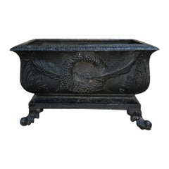 French Cast Iron Napoleon III Period Neoclassical Painted Jardinière