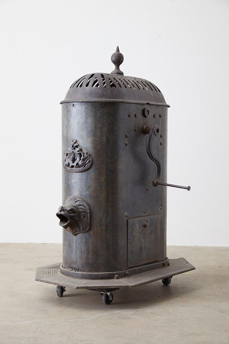 Napoleon III 19th Century French Cast Iron Water Pump Fountain For Sale
