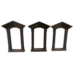 19th Century French Cast Iron Window Frames