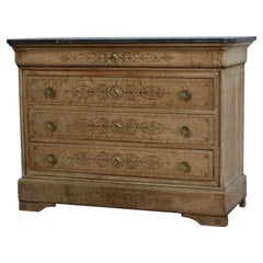 19th Century French Charles X Commode in Bird's-Eye Maple