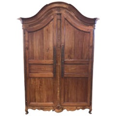 19th Century French Cherrywood Armoire