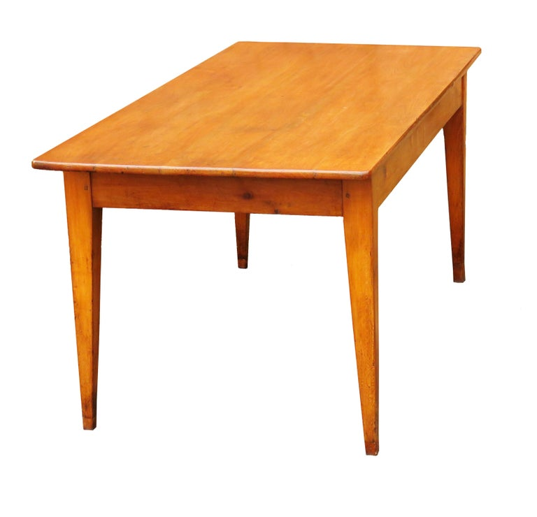 Farm Dining Table For Sale: 19th Century French Cherrywood Farmhouse Antique Dining