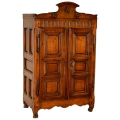 19th Century French Chestnut Diminutive Armoire