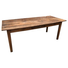 19th Century French Chestnut Farm Table