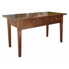19th Century French Chestnut Server, Two Drawers