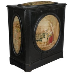 19th Century French Coffer with Tapestry Panels