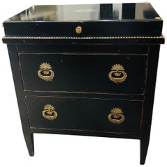 19th Century French Coiffeuse Chest with 2 Deep Drawers