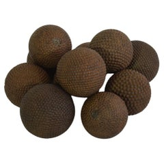 19th Century French Collection of Wood with Iron Petanque Balls