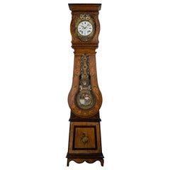 19th Century French Comtoise Grandfather Clock with Automate Pendulum