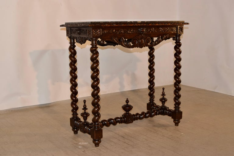 Napoleon III 19th Century French Console Table with Marble Top For Sale