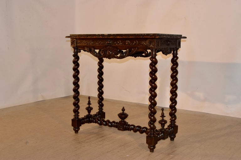 19th Century French Console Table with Marble Top For Sale 1