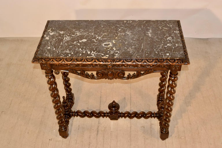 19th Century French Console Table with Marble Top For Sale 2